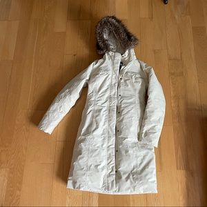 The North Face Arctic Parka thigh length cream xs